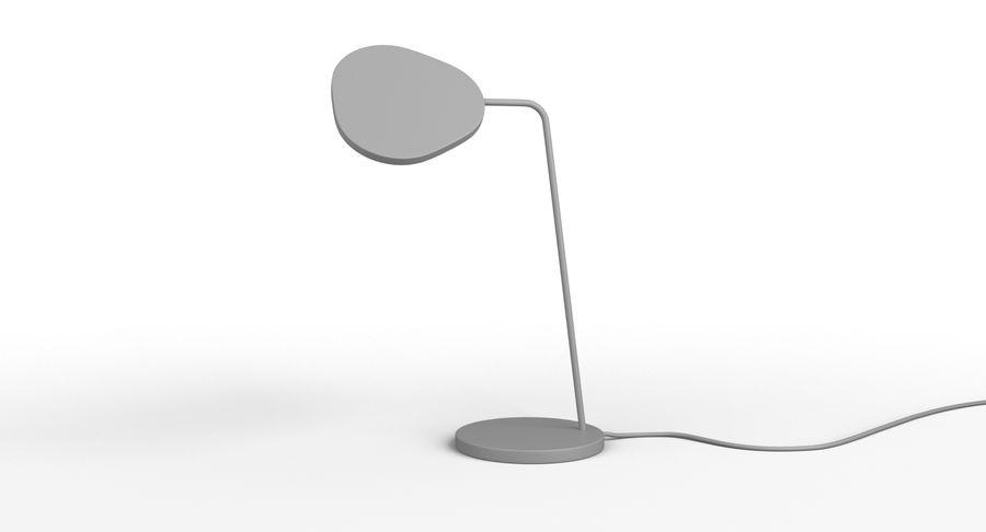 Muuto Leaf Table e luminárias de pé royalty-free 3d model - Preview no. 3