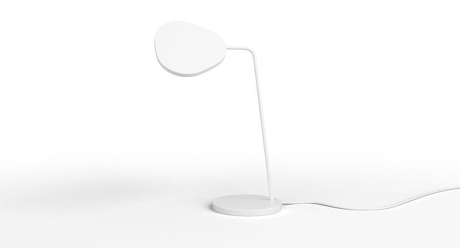Muuto Leaf Table e luminárias de pé royalty-free 3d model - Preview no. 5
