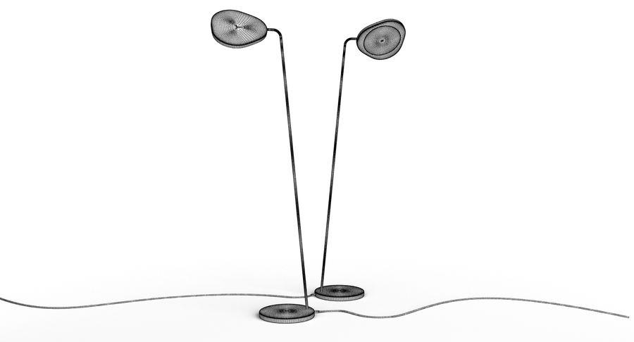 Muuto Leaf Table e luminárias de pé royalty-free 3d model - Preview no. 18