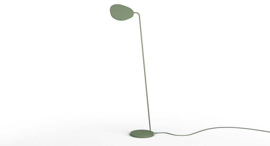 Muuto Leaf Table e luminárias de pé royalty-free 3d model - Preview no. 11