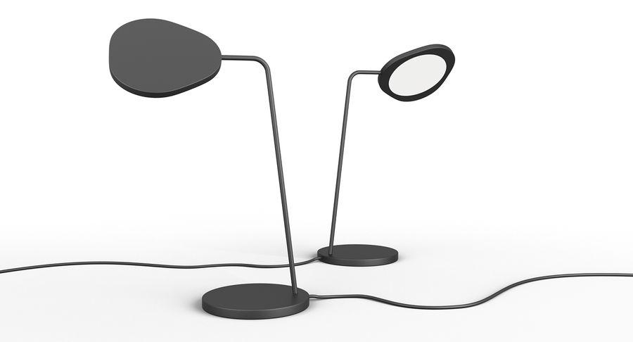 Muuto Leaf Table e luminárias de pé royalty-free 3d model - Preview no. 2