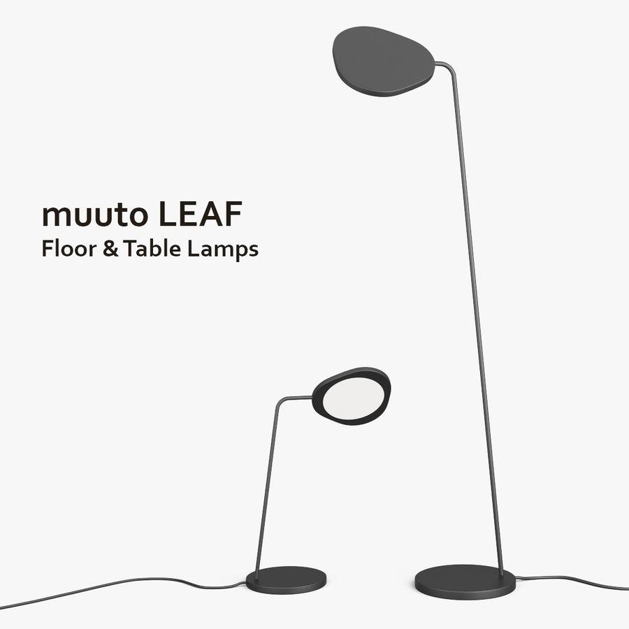 Muuto Leaf Table e luminárias de pé royalty-free 3d model - Preview no. 1