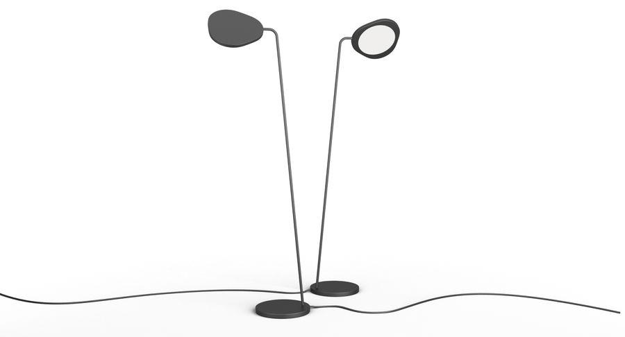 Muuto Leaf Table e luminárias de pé royalty-free 3d model - Preview no. 10