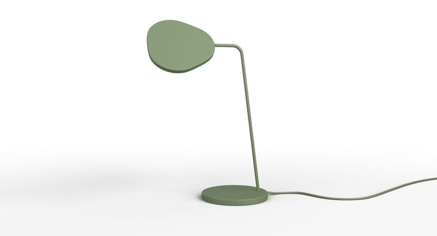 Muuto Leaf Table e luminárias de pé royalty-free 3d model - Preview no. 4