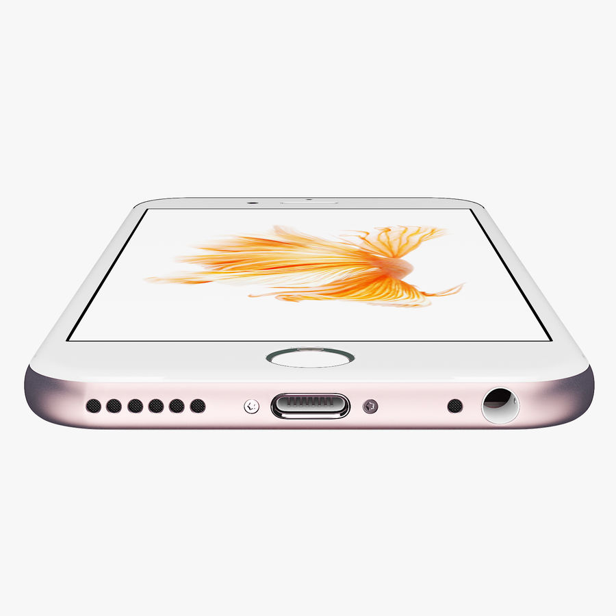 iPhone 6S Rose Gold FBX OBJ royalty-free modelo 3d - Preview no. 6