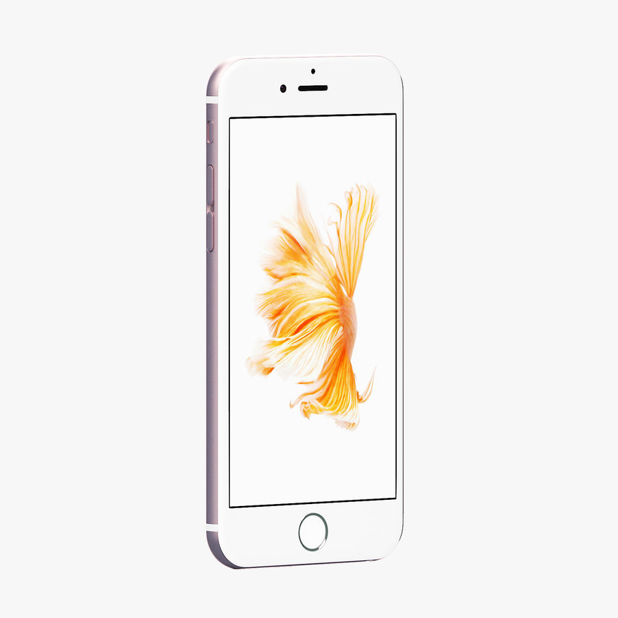 iPhone 6S Rose Gold FBX OBJ royalty-free 3d model - Preview no. 2