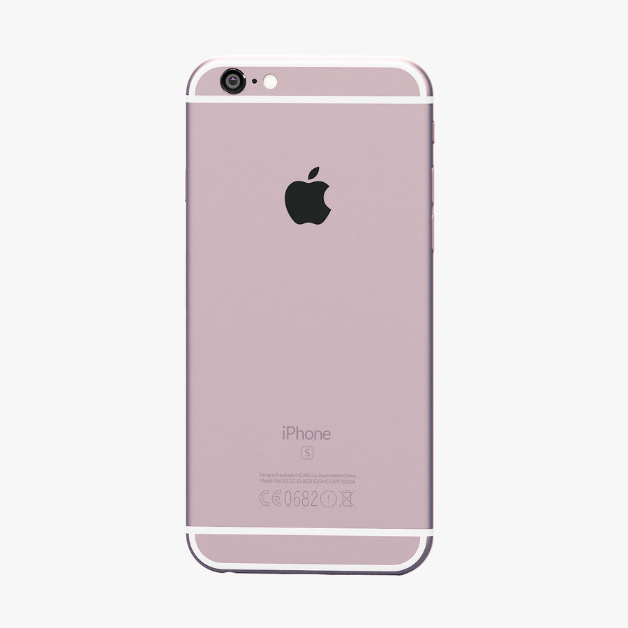 iPhone 6S Rose Gold FBX OBJ royalty-free modelo 3d - Preview no. 5