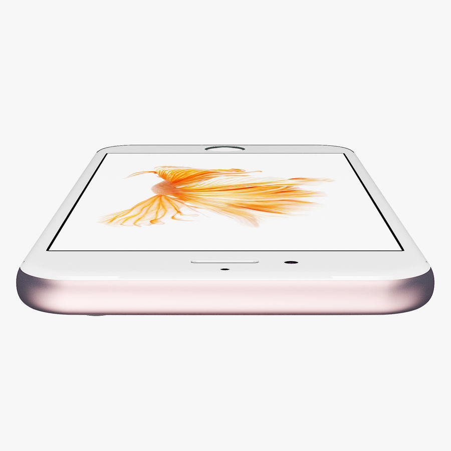 iPhone 6S Rose Gold FBX OBJ royalty-free modelo 3d - Preview no. 4
