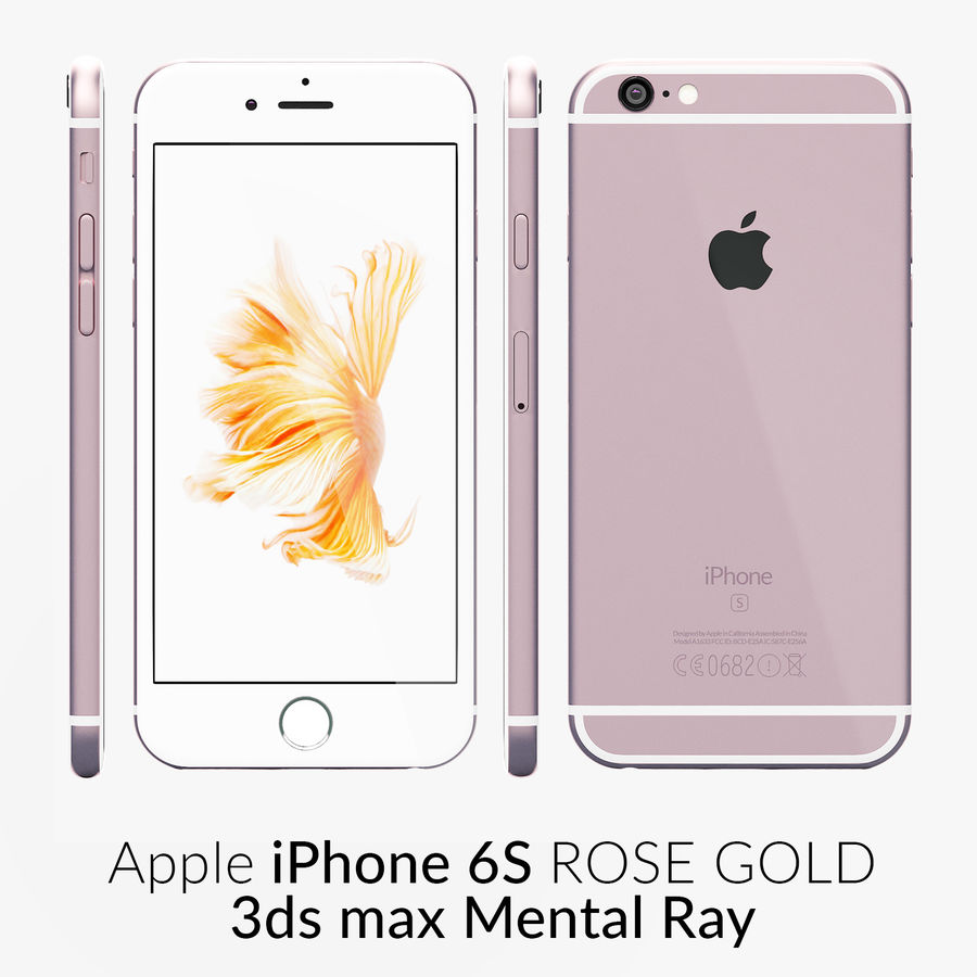 iPhone 6S Rose Gold Mental Ray royalty-free 3d model - Preview no. 1