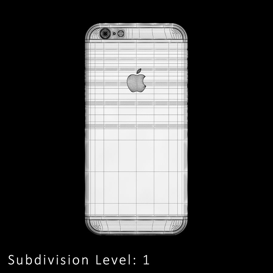 iPhone 6S Silver C4D royalty-free 3d model - Preview no. 15
