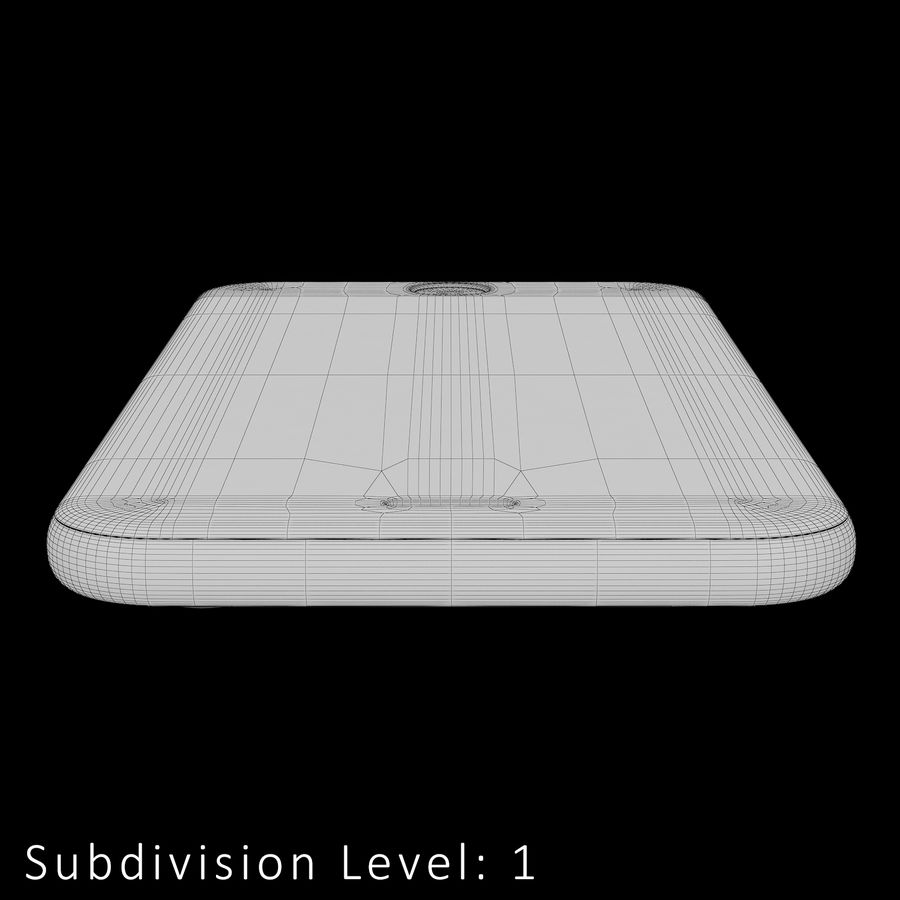 iPhone 6S Silver C4D royalty-free 3d model - Preview no. 22