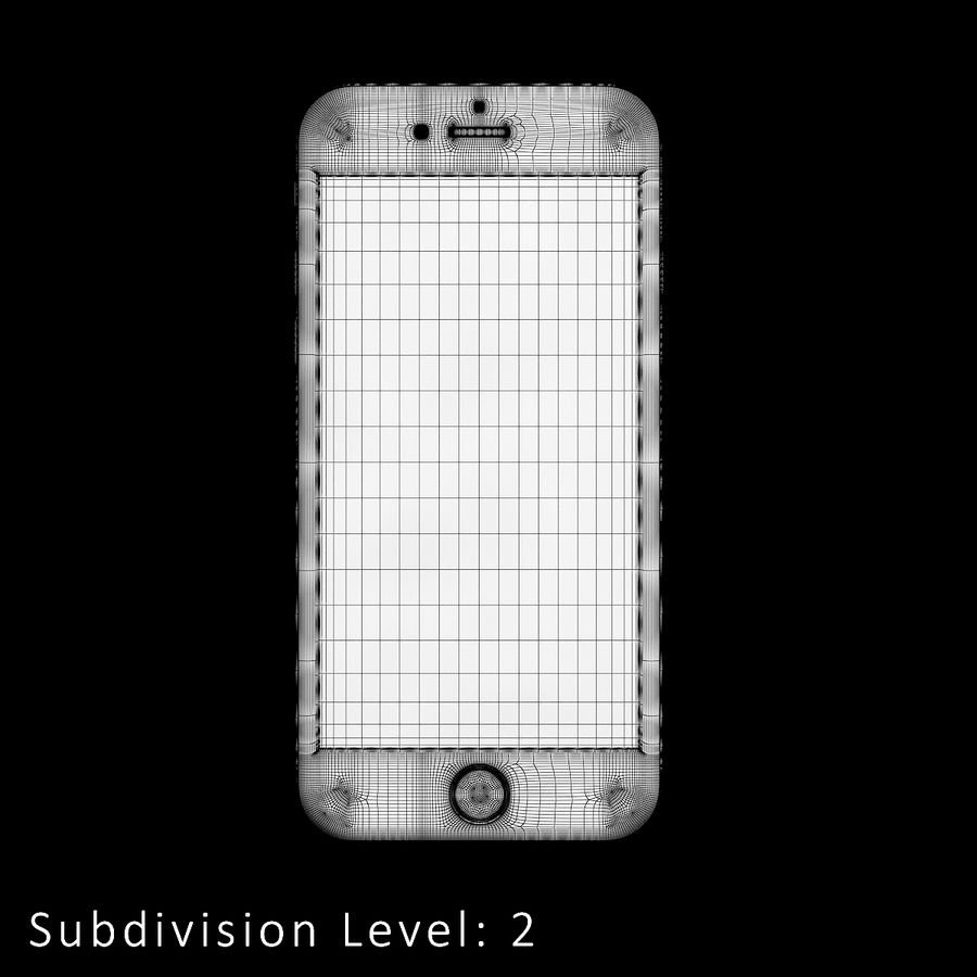 iPhone 6S Silver C4D royalty-free 3d model - Preview no. 13