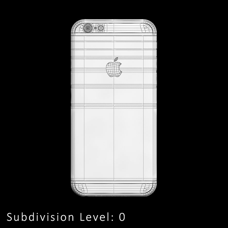 iPhone 6S Silver C4D royalty-free 3d model - Preview no. 14