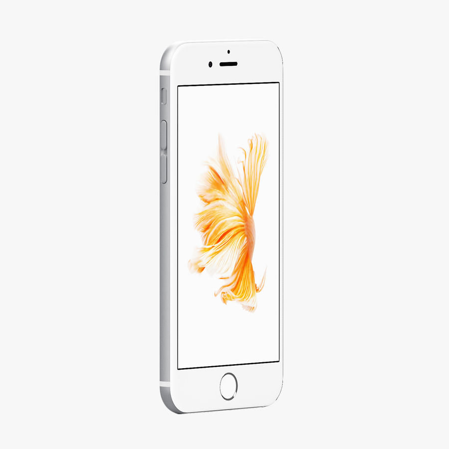 iPhone 6S Silver C4D royalty-free 3d model - Preview no. 2