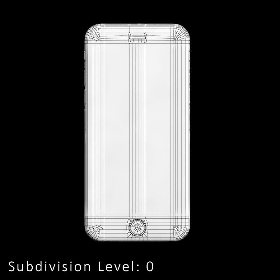 iPhone 6S Silver C4D royalty-free 3d model - Preview no. 8