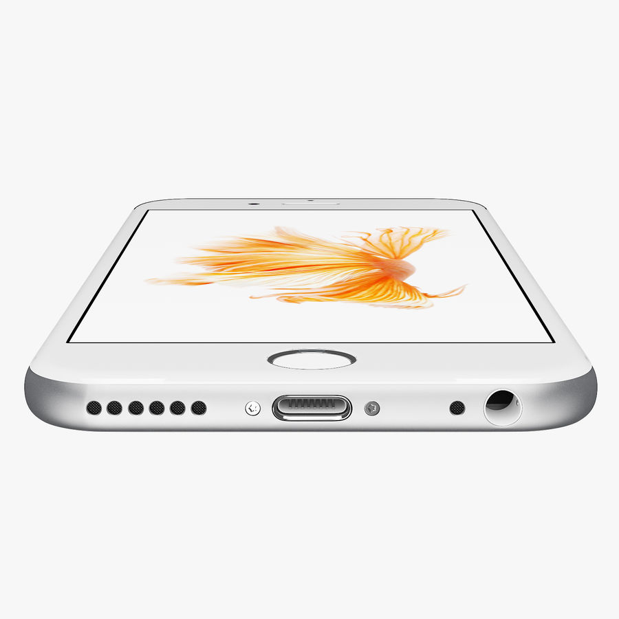 iPhone 6S Silver C4D royalty-free 3d model - Preview no. 7