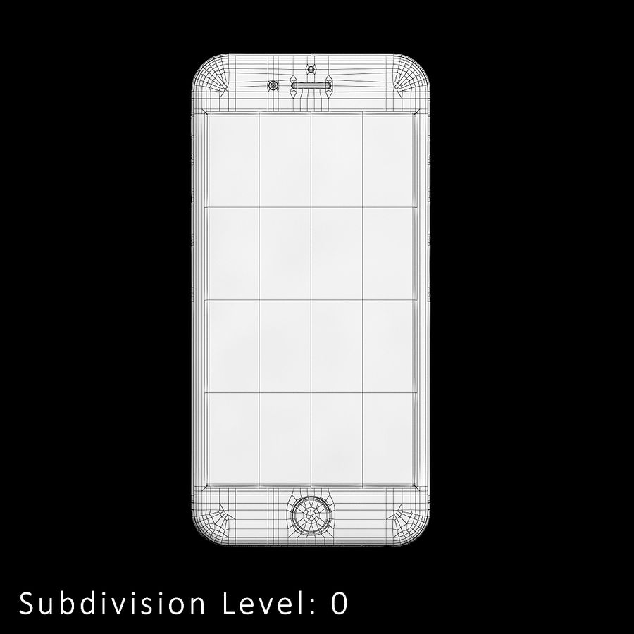 iPhone 6S Silver C4D royalty-free 3d model - Preview no. 11