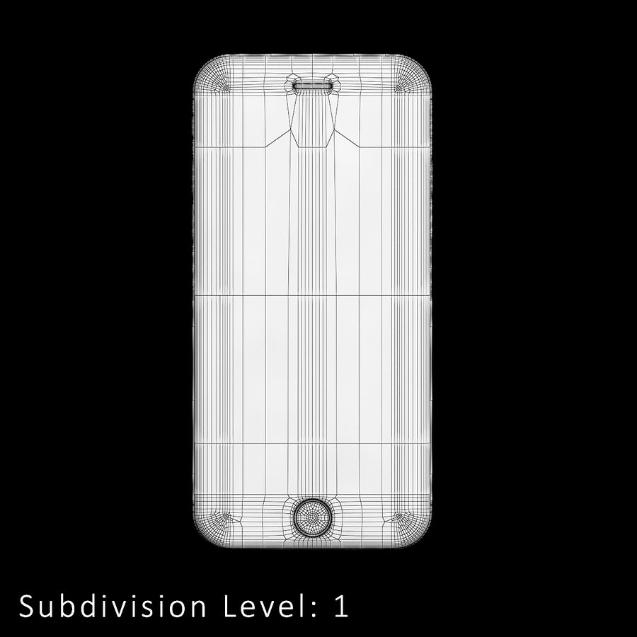 iPhone 6S Silver C4D royalty-free 3d model - Preview no. 9