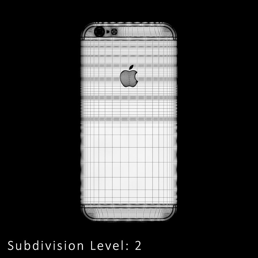 iPhone 6S Silver C4D royalty-free 3d model - Preview no. 16
