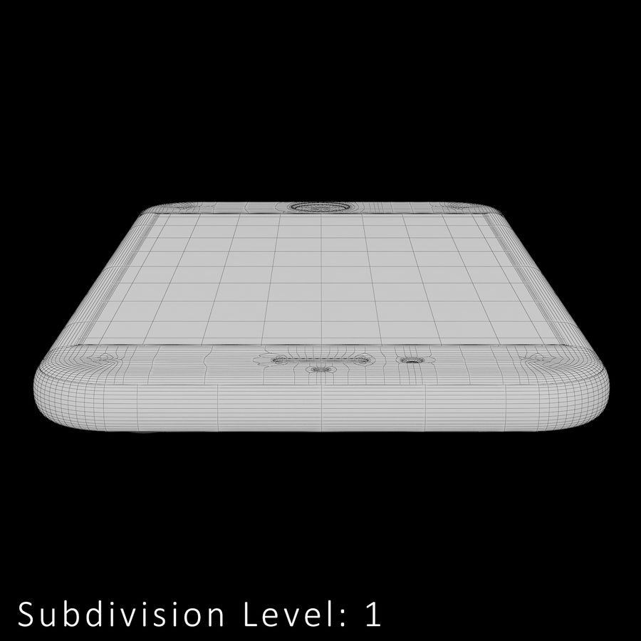 iPhone 6S Silver C4D royalty-free 3d model - Preview no. 24