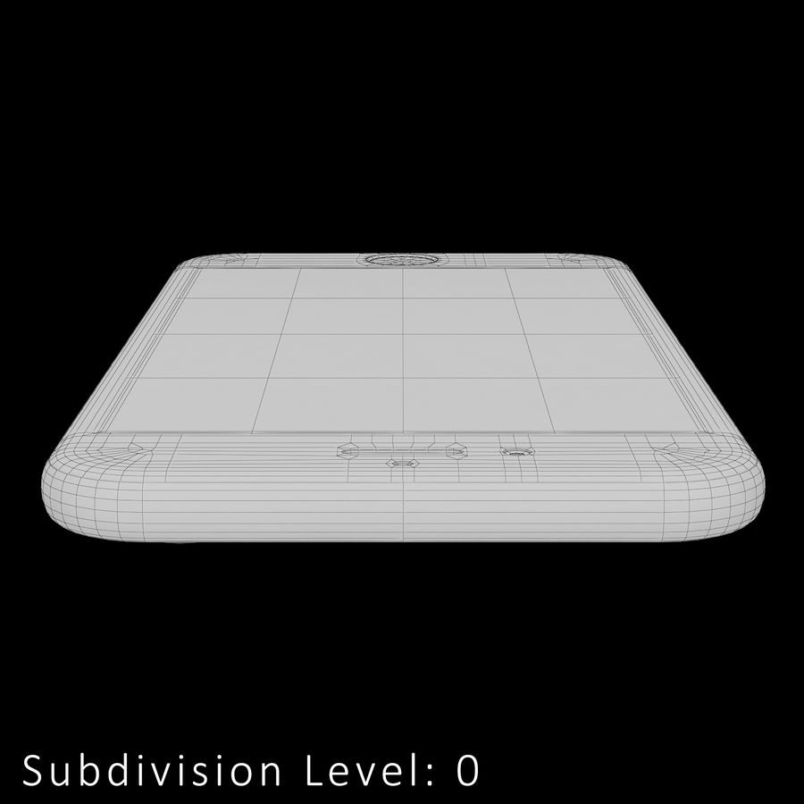 iPhone 6S Silver C4D royalty-free 3d model - Preview no. 23