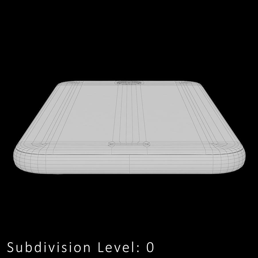 iPhone 6S Silver C4D royalty-free 3d model - Preview no. 21