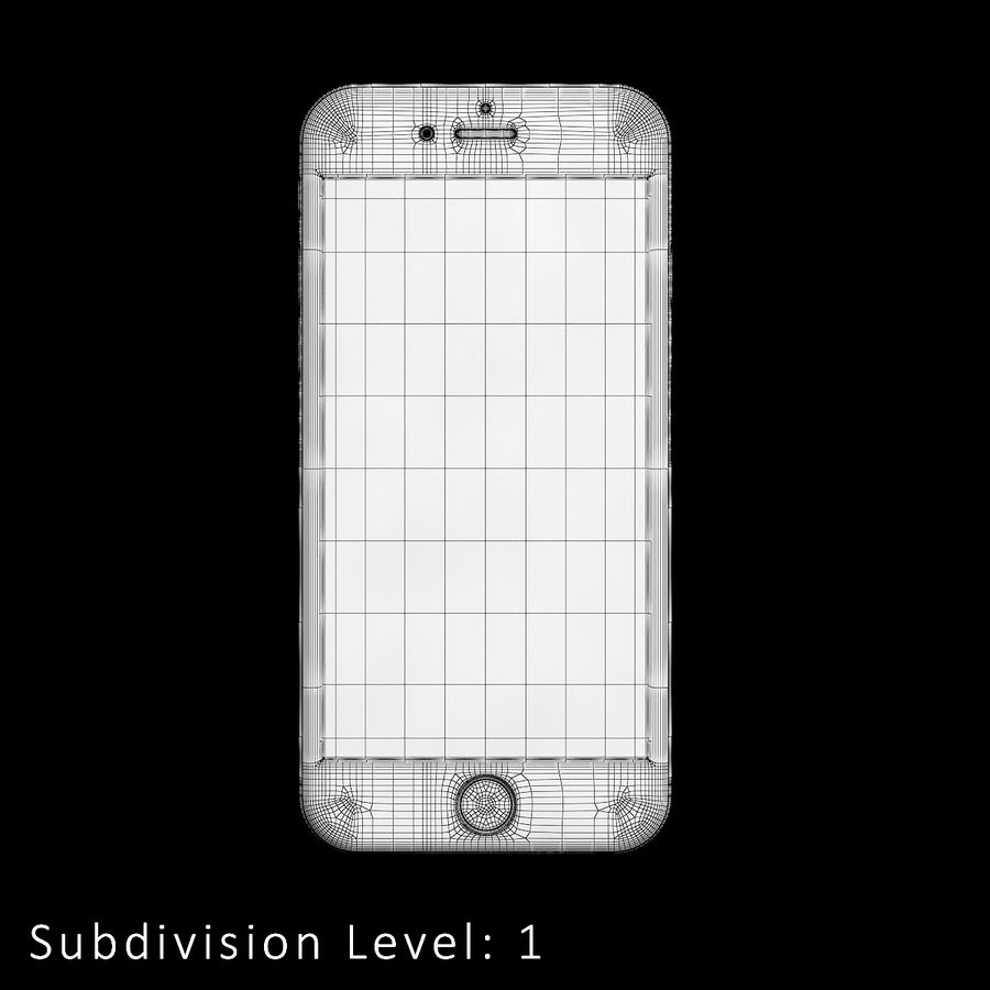 iPhone 6S Silver C4D royalty-free 3d model - Preview no. 12