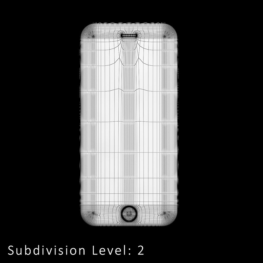 iPhone 6S Silver C4D royalty-free 3d model - Preview no. 10