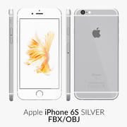 iPhone 6S Silver FBX OBJ 3d model