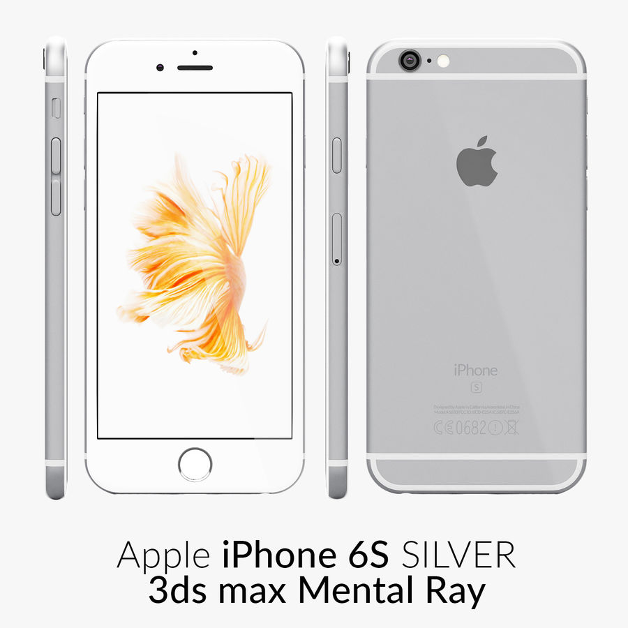 iPhone 6S Prata Mental Ray royalty-free 3d model - Preview no. 1