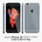 iPhone 6S Space Grey C4D 3d model