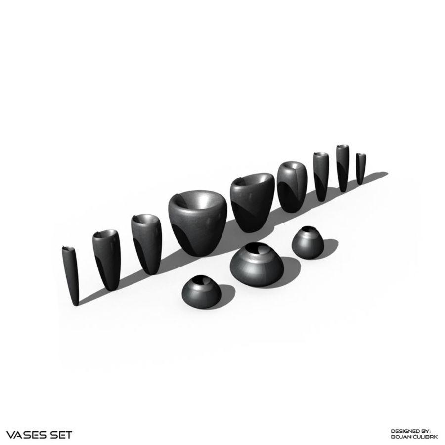 Zestaw wazonów royalty-free 3d model - Preview no. 1