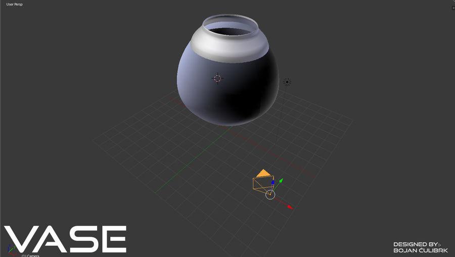 Zestaw wazonów royalty-free 3d model - Preview no. 5