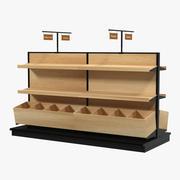ベーカリーディスプレイ棚 3d model