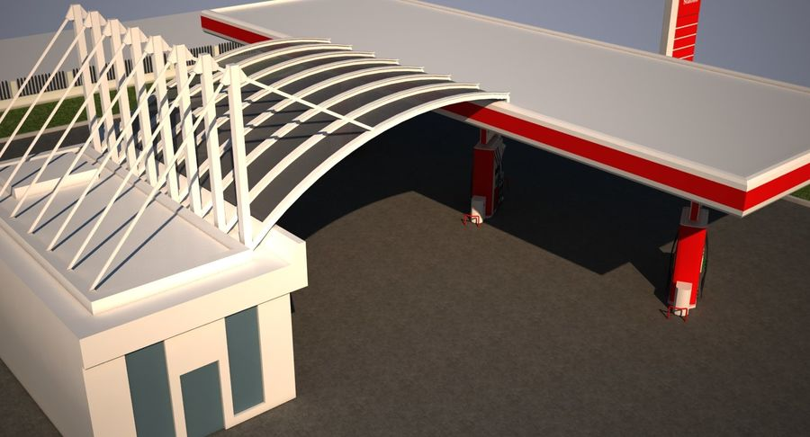 Gas Station royalty-free 3d model - Preview no. 14