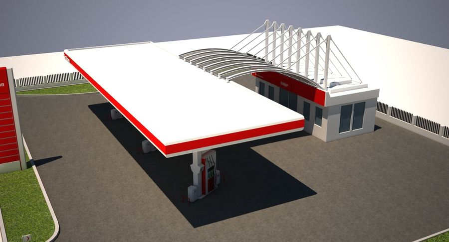 Gas Station royalty-free 3d model - Preview no. 12