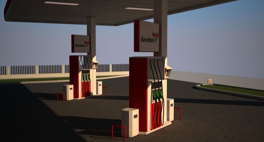Gas Station royalty-free 3d model - Preview no. 10