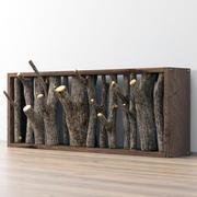 Wieszak na drewno 3d model