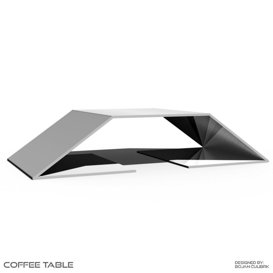 Table basse 2 royalty-free 3d model - Preview no. 4