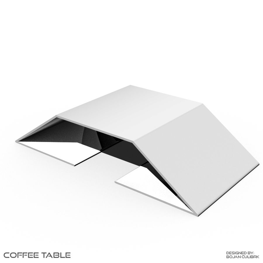 Table basse 2 royalty-free 3d model - Preview no. 1