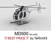 MD500 bianco 3d model