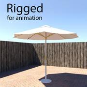 Riggad parasoll 3d model