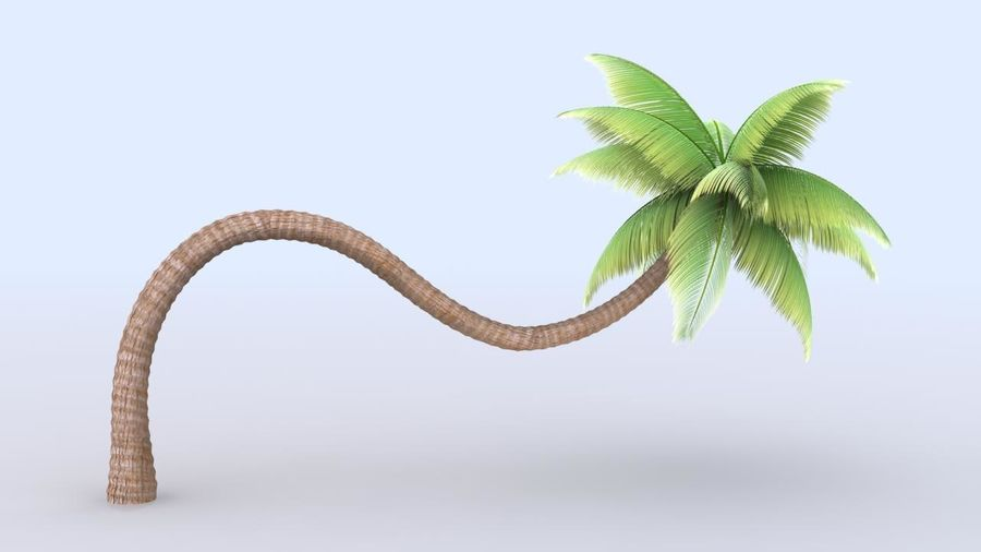 Beach Palm Tree royalty-free 3d model - Preview no. 1