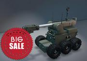 爆弾処理ロボットモデル 3d model