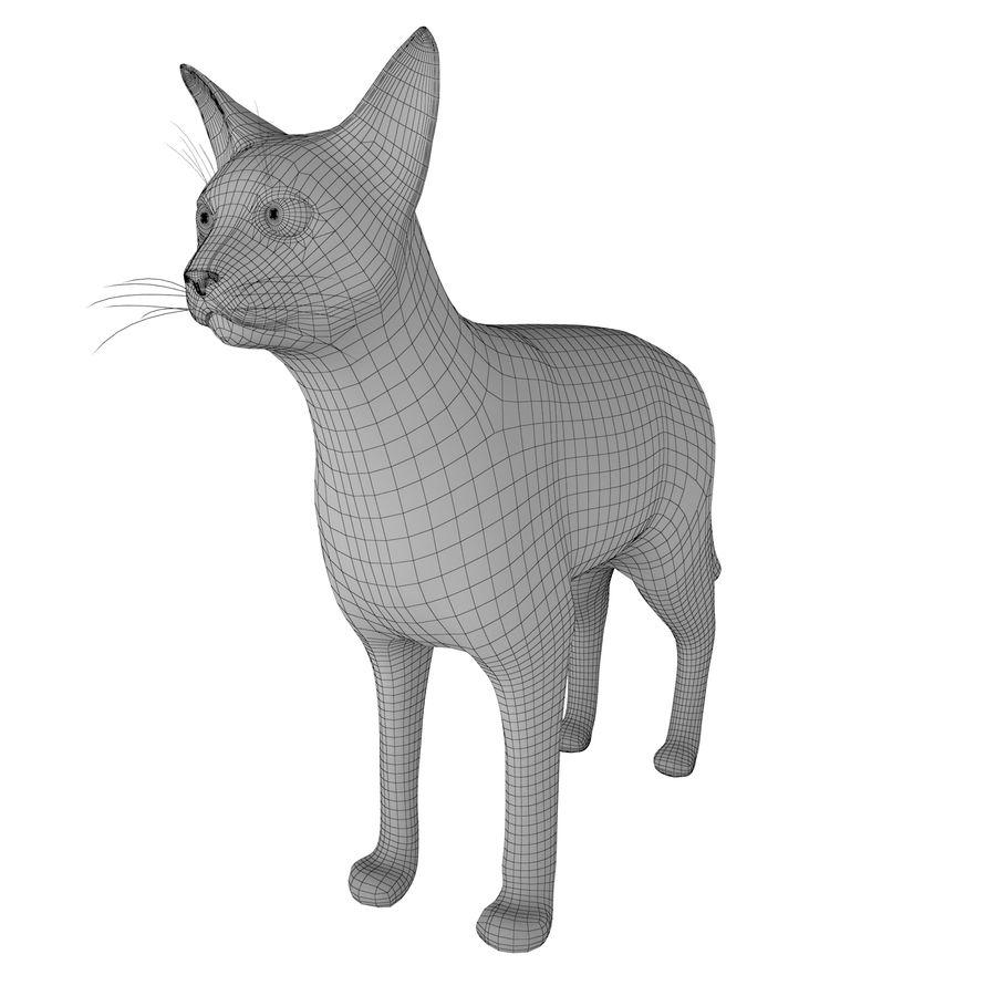 猫 royalty-free 3d model - Preview no. 5
