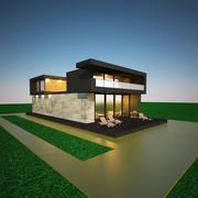 집 모델을 방해 3d model
