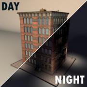 tenement house brick old 3d model