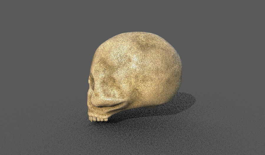 Crâne humain royalty-free 3d model - Preview no. 2
