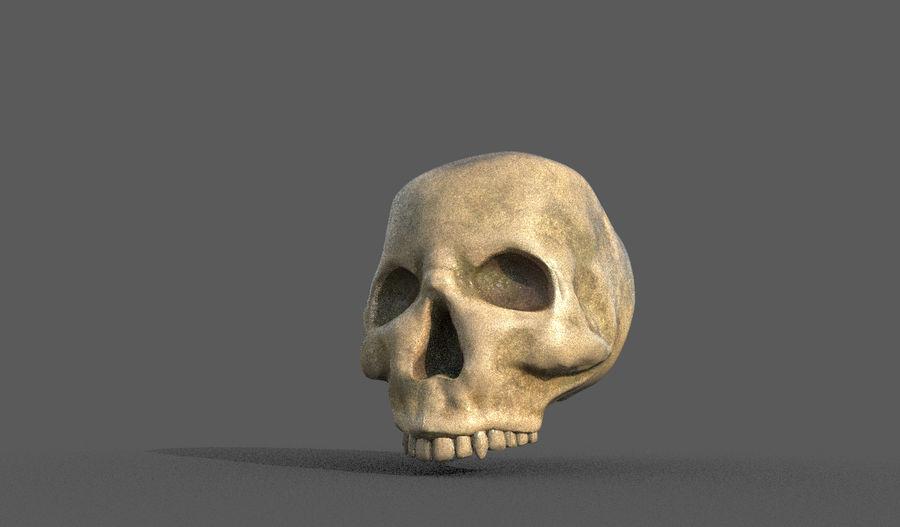 Crâne humain royalty-free 3d model - Preview no. 1