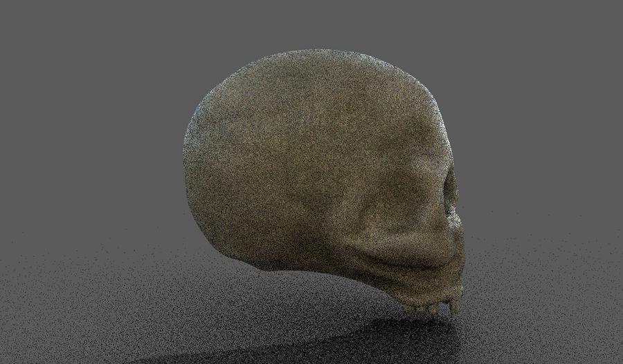 Human Skull royalty-free 3d model - Preview no. 3